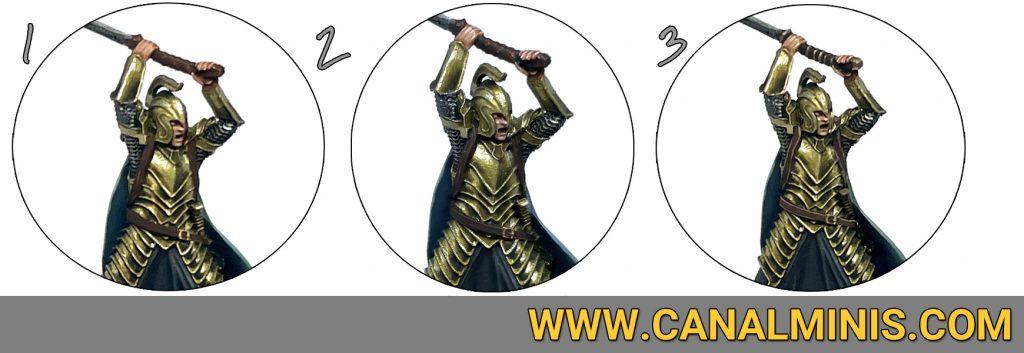 Como pintar cueros cinturoes correas figuras warhammer miniaturas