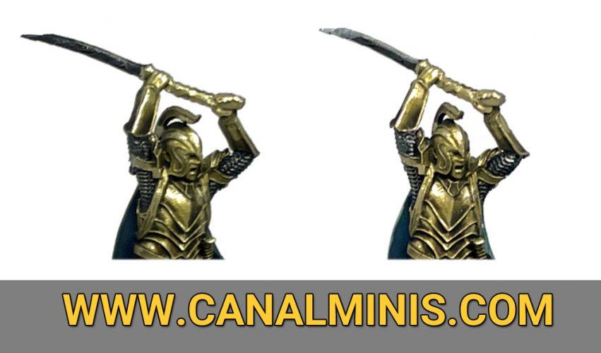 Cómo pintar metálicos hierro acero miniaturas figuras