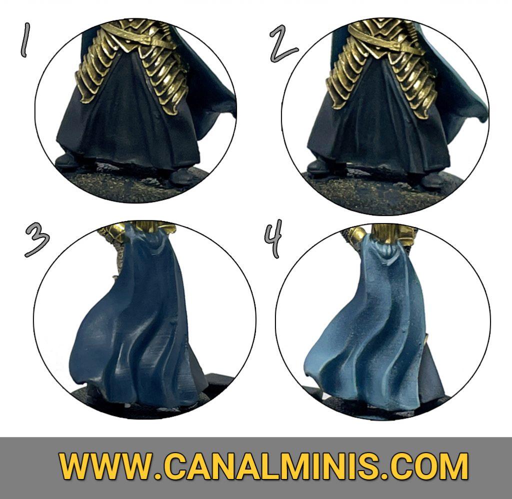Como pintar ropa azul oscura miniaturas warhammer