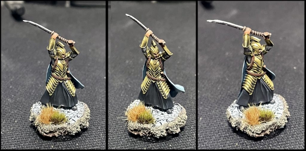 Como pintar metalicos armadura dorada oro