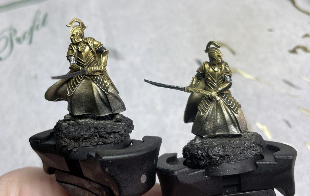 Como pintar armaduras doradas miniatura warhammer figuras