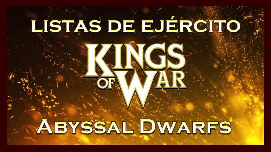 Listas de ejército Enanos Abisales King of War kow Army list Abyssal Dwarfs