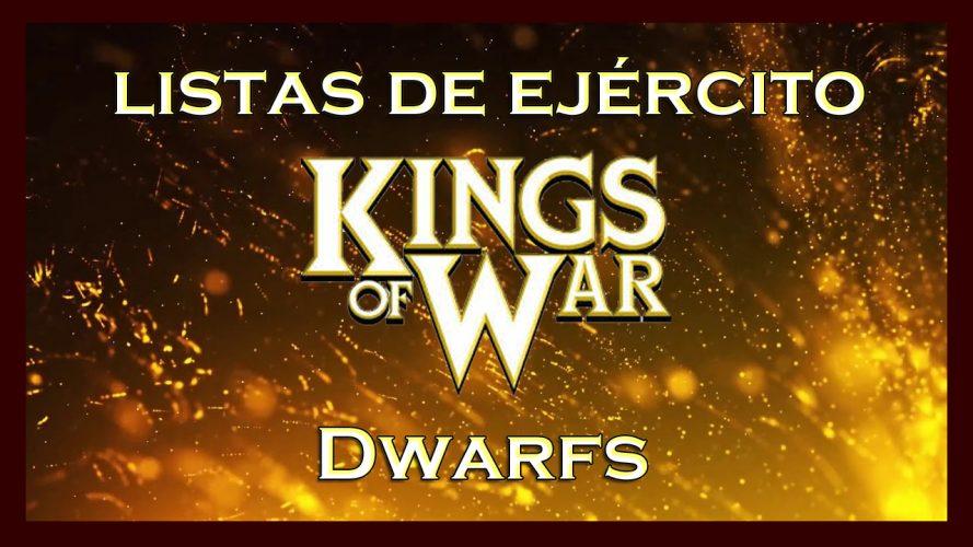 Listas de ejército Enanos Dwarfs King of War kow Army list