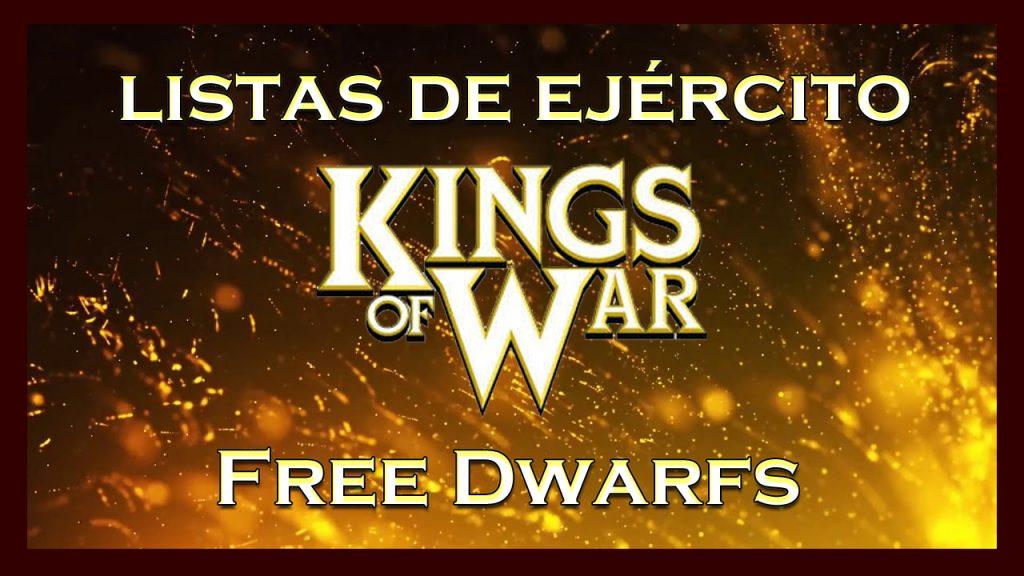 Listas de ejército Free Dwarfs King of War kow Army list