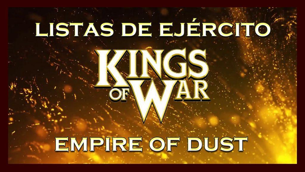 Listas de ejército Imperio de las Arenas King of War kow Army list Empire of Dust