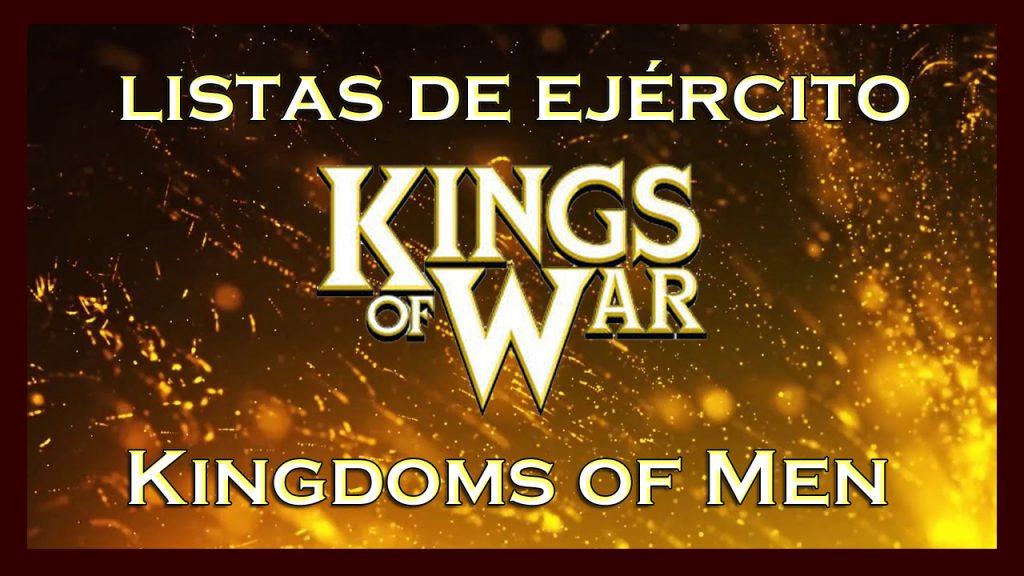 Listas de ejército Kingdoms of Men King of War kow Army list Reino de los hombres