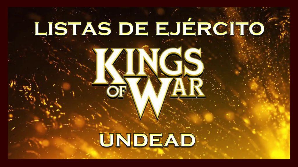 Listas de ejército Undead King of War kow Army list