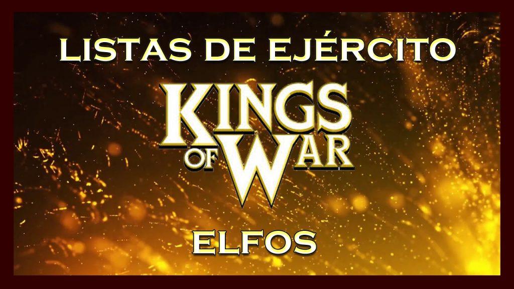 Listas de ejército elfos King of War kow Army list elves