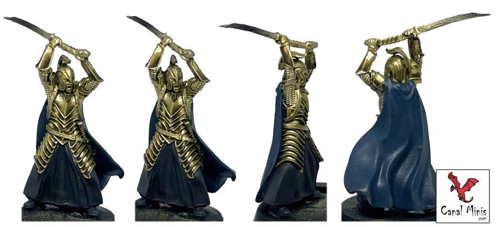 Pintar metal oro warhammer figuras realista