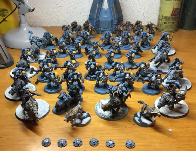 pinat ejército por encargo warhammer