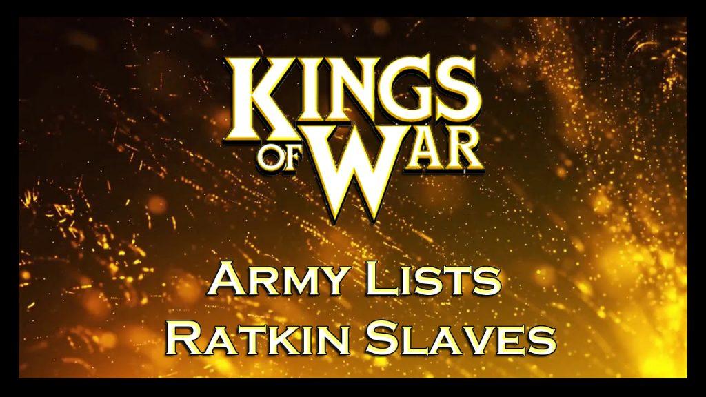 Army lists Ratkin Slaves listas de ejército esclavos ratkin kow kings of war