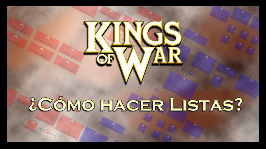 Cómo hacer listas kings of war guía empezar ejércitos