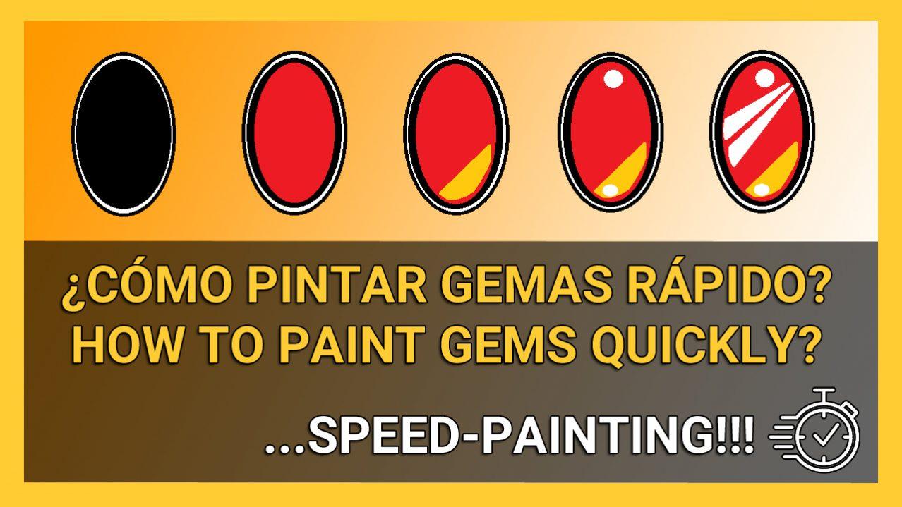 Cómo pintar gemas rojas warhammer rápido how to paint gem speed painting