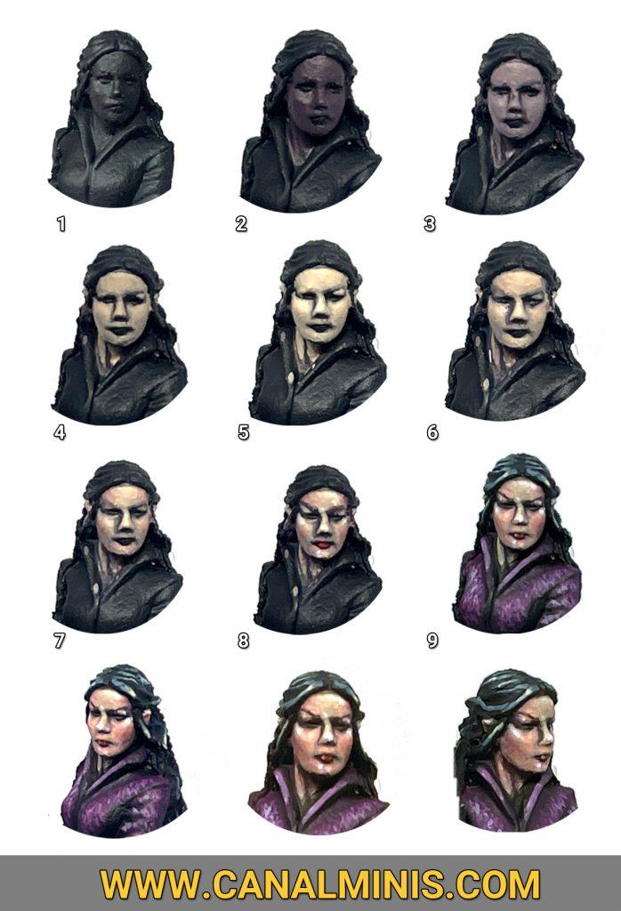 Como pintar piel de mujer modelismo warhammer miniaturas Arwen