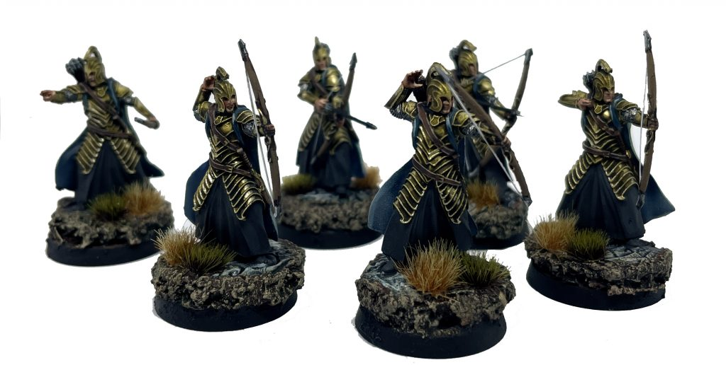 High elf warrior with elf bow rivendell