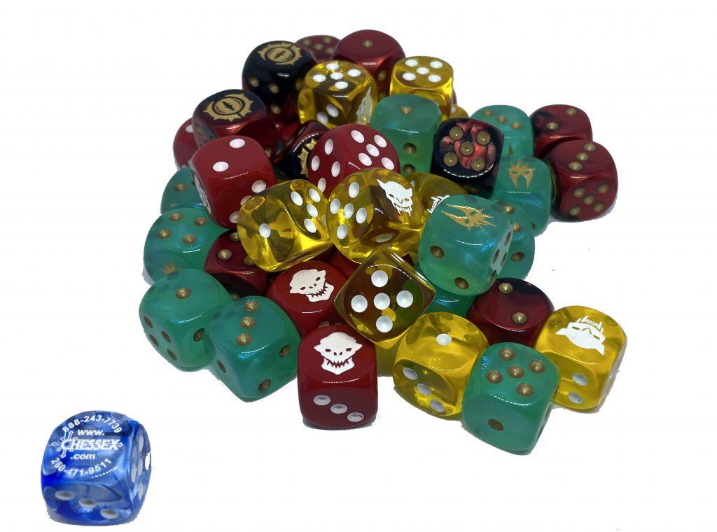 Custom dice to buy Chessex
