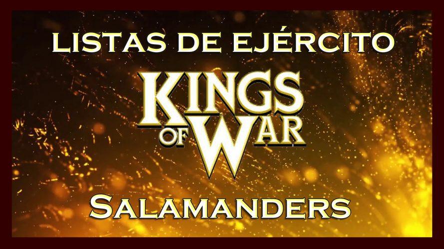 Listas de ejército Salamandras King of War kow Army list Salamanders