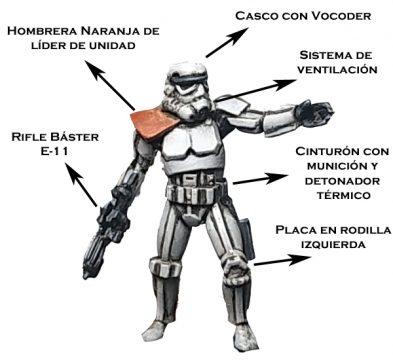 Partes de armadura Stormtrooper soldado de asalto imperial