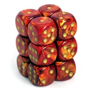 Scarab Scarlet w Gold Chessex