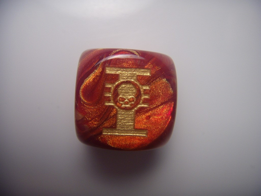 Custom dice for game warhammer