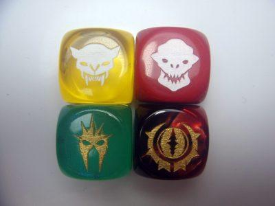 Custom dice d6 faces
